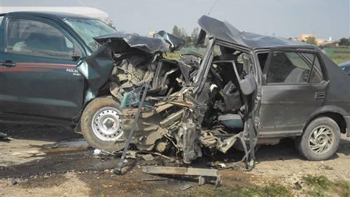 وفاة وإصابة 15 شخصاً في حادث مروري بإب