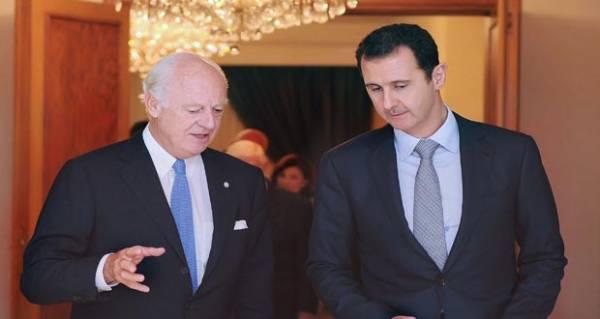 الأسد يؤكد للمبعوث الدولي أهمية مبادرته لوقف القتال في حلب