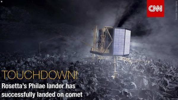 لأول مرة بالتاريخ.. المركبة الفضائية &#34فيلي&#34 تحط بنجاح على سطح مذنب