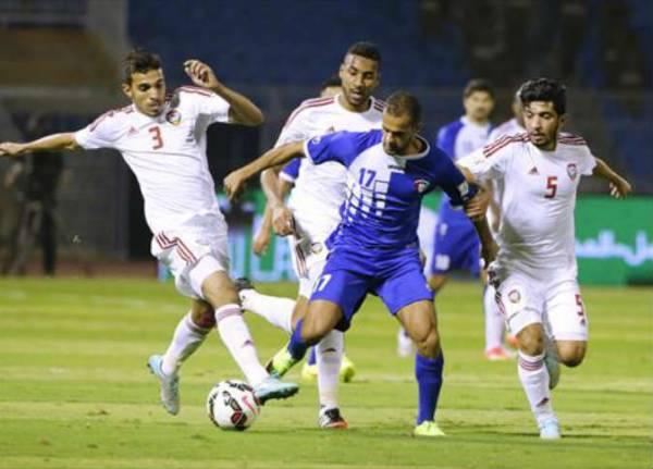 تعادل مثير بين الامارات والكويت في كأس الخليج