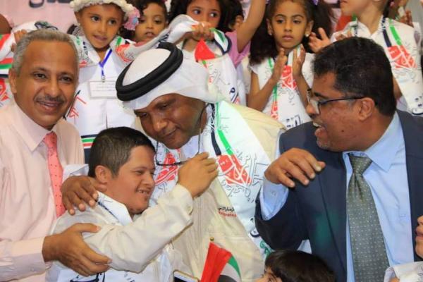 الهلال الإماراتي والتربية والتعليم يحتفلون مع أطفال عدن في اليوم العالمي للطفل