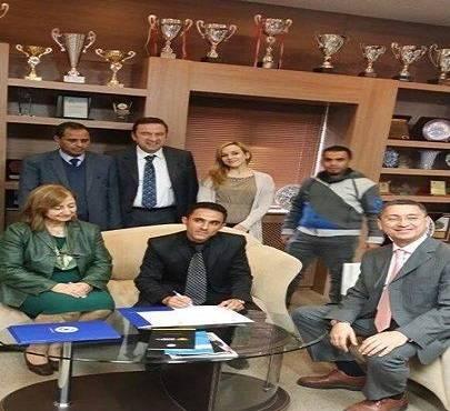توقيع أتفاقية تفاهم وشراكة بين كلية الآفاق وجامعة آيدن التركية