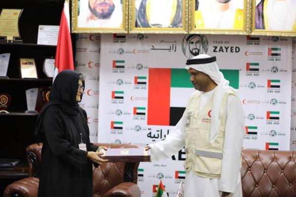 ممثل الهلال الإماراتي يلتقي نائب رئيس لجنة الصليب الأحمر بعدن