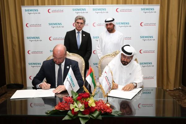 هلال الإمارات يوقع مذكرة تفاهم مع شركة سيمنز لتعزيز قدرات القطاع الصحي في اليمن