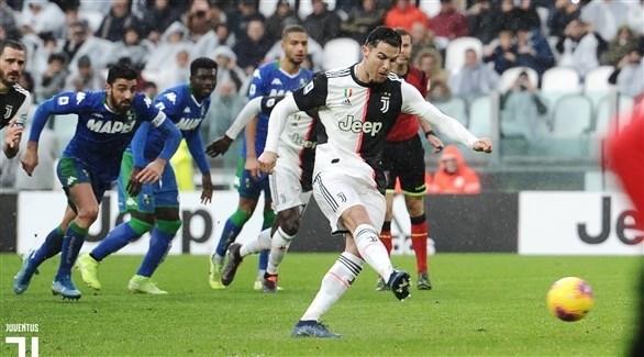 رونالدو ينقذ يوفنتوس ويهديه التعادل 2-2 مع ساسولو