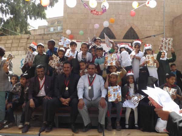 الهلال الاحمر بصنعاء تكرم طلاب ومعلمي مدرسة عبدالرحمن بن عوف