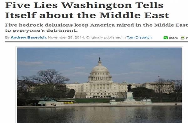 ترجمة| خمس أكاذيب تحكيها واشنطن لنفسها عن الشرق الأوسط
