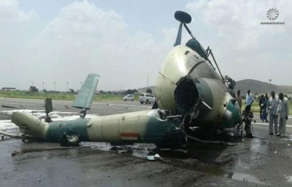 مقتل سبعة مسؤولين سوادنيين على الأقل في تحطم طائرة هليكوبتر