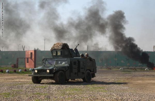 إصابة 6 أشخاص في سقوط صواريخ على قاعدة عسكرية بالقرب من مطار بغداد