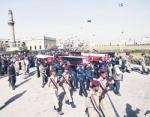 صنعاء تشيع جثامين 16 ضابطا وجنديا ..وتتوعد