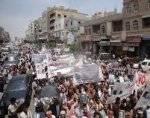 في ظل مقاطعة &#34حزب الإصلاح&#34..تعز تلتف حول &#34شوقي هائل&#34 في مسيرة حاشدة تأييدا لجهوده الأ