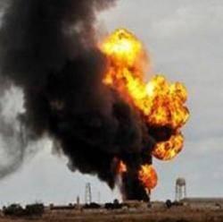 انفجار يستهدف خزانات شركة BGP الصينية نفطية بحضرموت