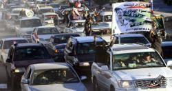 محاصرة مسيرة قادمة من تعز أمام دار الرئاسة بصنعاء
