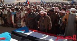 غضب عارم يرافق تشييع ناشطين في الحراك بمحافظة شبوة