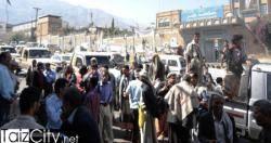 حملة امنية بتعز تلاحق عناصر مسلحة تجمعت أمام ديوان المحافظة