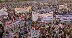 الاف المشاركون يصلون صنعاء والطرق مزدحمة بقوافل السيارات والبشر..