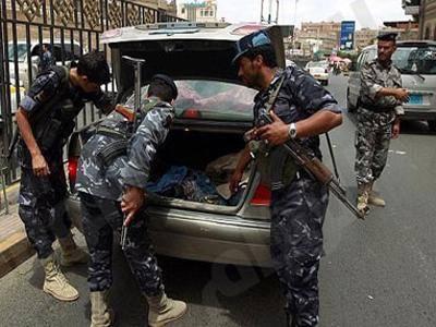 ضبط سيارة تحمل متفجرات وقنابل وأسلحة بالعاصمة صنعاء