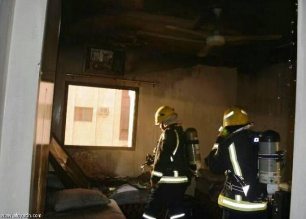 إخلاء 381 معتمراً إثر حريق بفندق قرب الحرم المكي