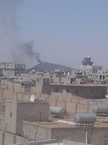 أهداف طيران العدوان شمال وجنوب صنعاء (12 غارة)