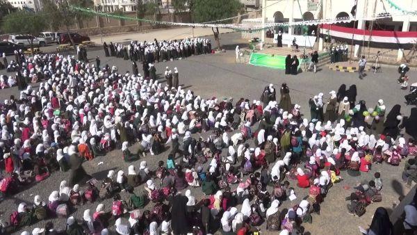 فيديو- طالبات مدرسة بصنعاء يهتفن &#34بالروح بالدم نفديك يا يمن&#34 ويرفضن صرخة الموت الحوثية