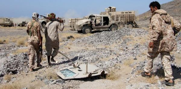 مقتل ثلاثة من مسلحي الحوثي بغارتين جويتين في البيضاء