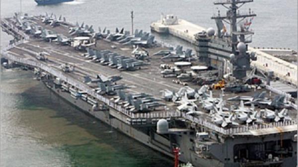 اصطدام قطعة حربية أمريكية بسفينة صيد كورية جنوبية