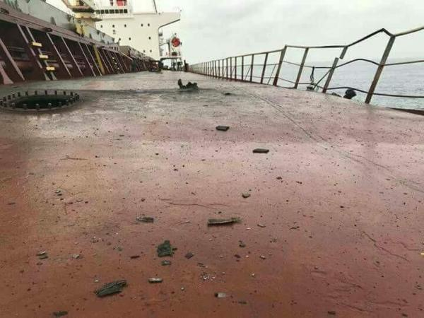 الاتحاد الأوروبي: السفينة التركية تم قصفها بصاروخ من عناصر في اليمن