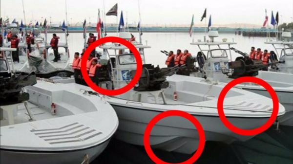 بالصور.. القارب الإيراني الذي أزال لغم السفينة اليابانية في بحر عمان