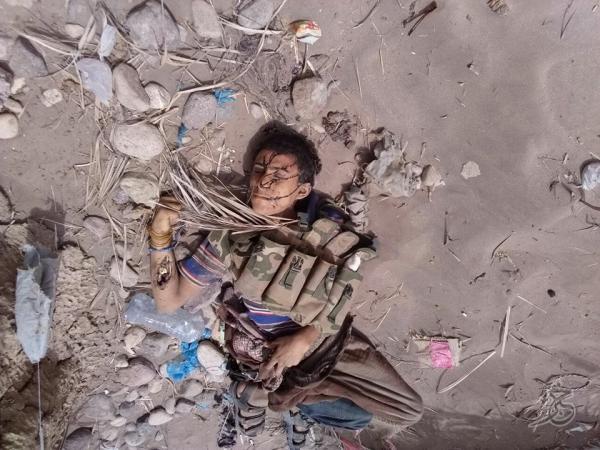 صور قتلى مليشيا الحوثي في العملية الانتحارية بجاح الحديدة (+18)