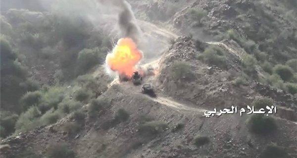 مدفعية الجيش تدك تجمعات العدو في جيزان والطيران يقصف موقعاً بنجران