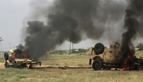 صد هجومين وتدمير آلية في مأرب