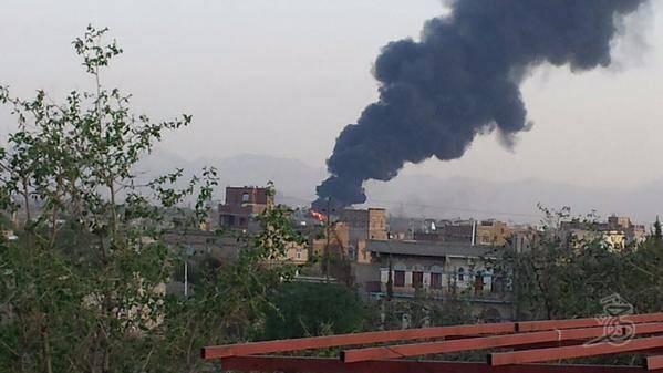 طيران العدوان يكثف الغارات على العاصمة اليمنية (صور)