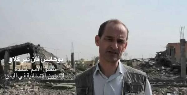 يوهانس فان يحذر في رسالة إلى مجلس الأمن من تدهور الأوضاع الإنسانية في اليمن