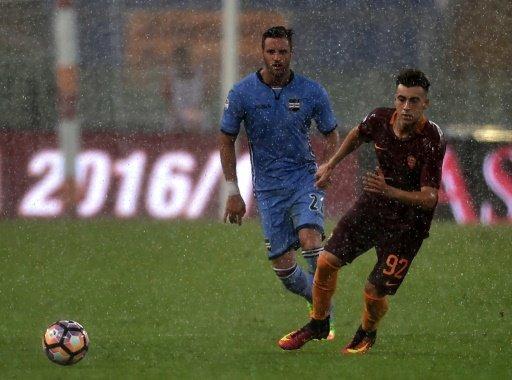 بطولة ايطاليا: الامطار تؤخر مباراة روما-سمبدوريا وتعطل مباراة جنوى-فيورنتينا