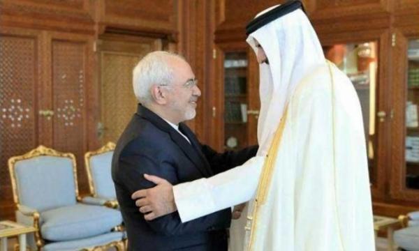 أمير قطر يتحدى السعودية ويستقبل وزير خارجية إيران