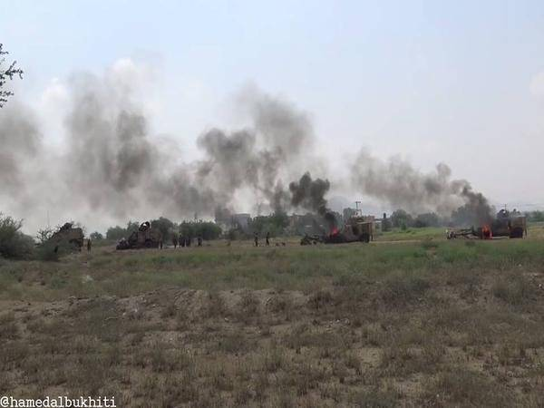 الجيش اليمني يصد محاولة للزحف ويدمّر آليات سعودية