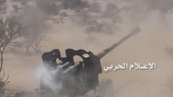 مدفعية الجيش تدك مواقع المرتزقة في 3 محاور بالجوف