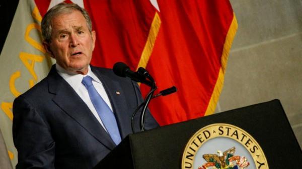بوش الابن ينتقد المشهد السياسي في عهد ترامب